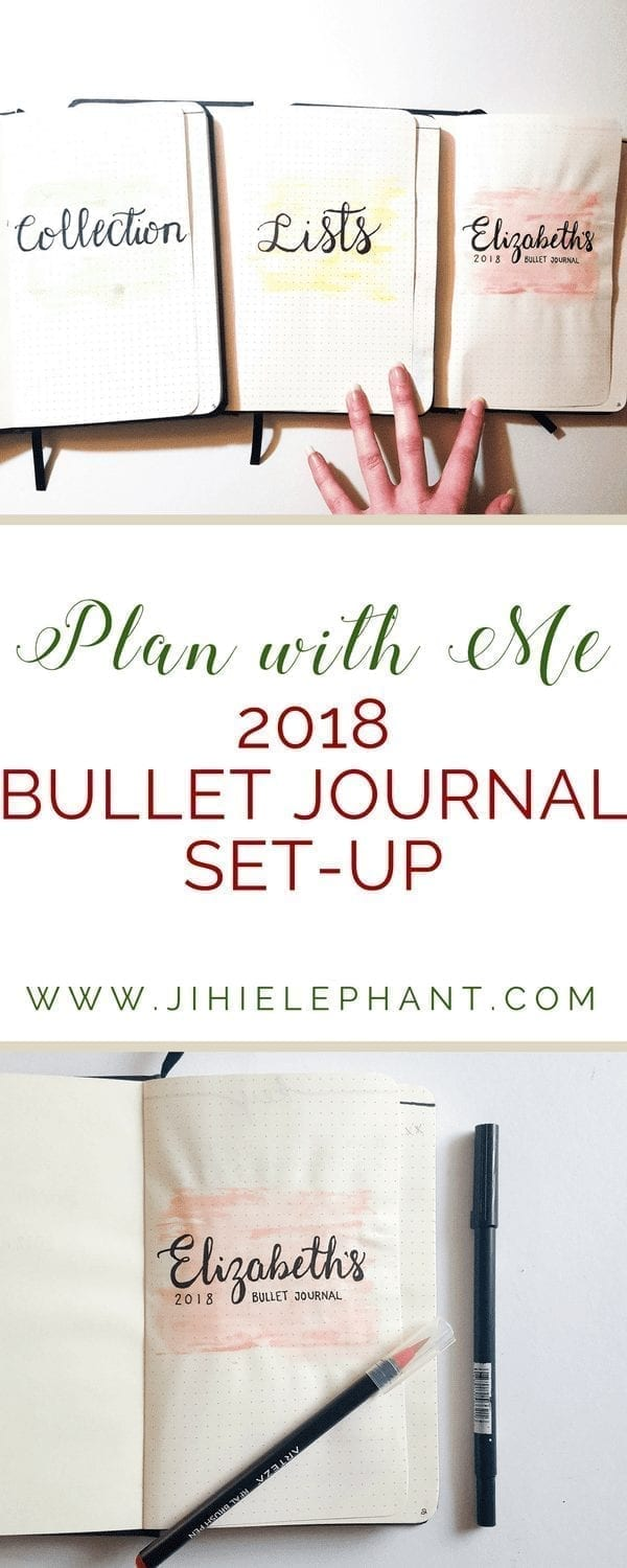 Plan with Me | 2018 Bullet Journal Set-up