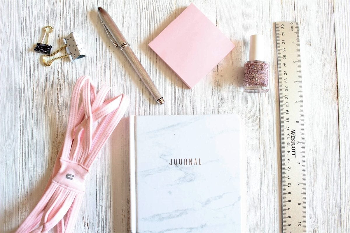 journal, notebook, marble, pink, baby pink,
