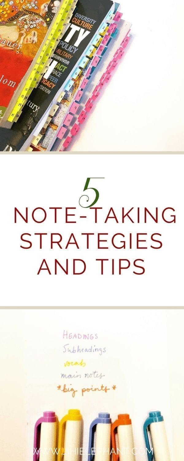 5 Essential Note-taking Strategies and Tips for College Students