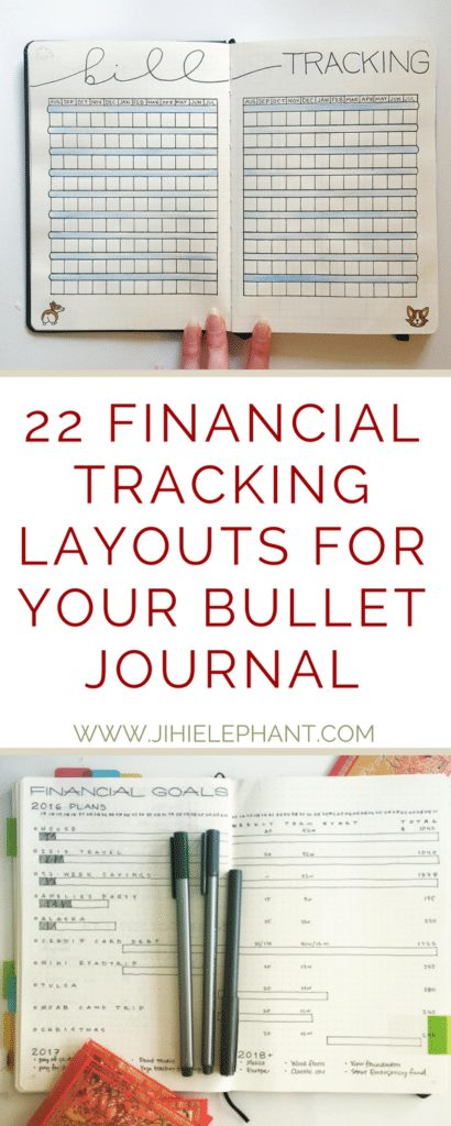 22 Financial Tracking Layouts for your Bullet Journal