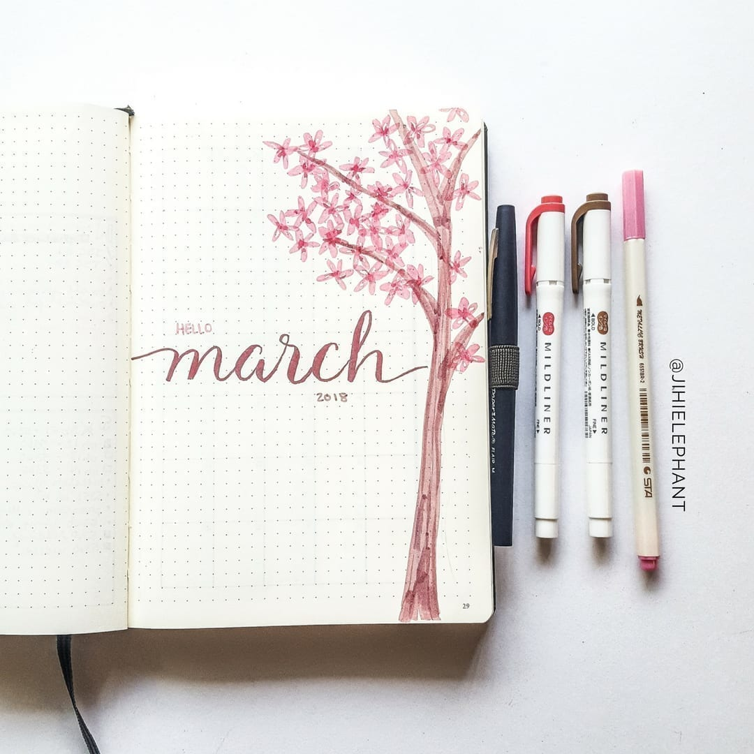 pink hello march 2018 cover