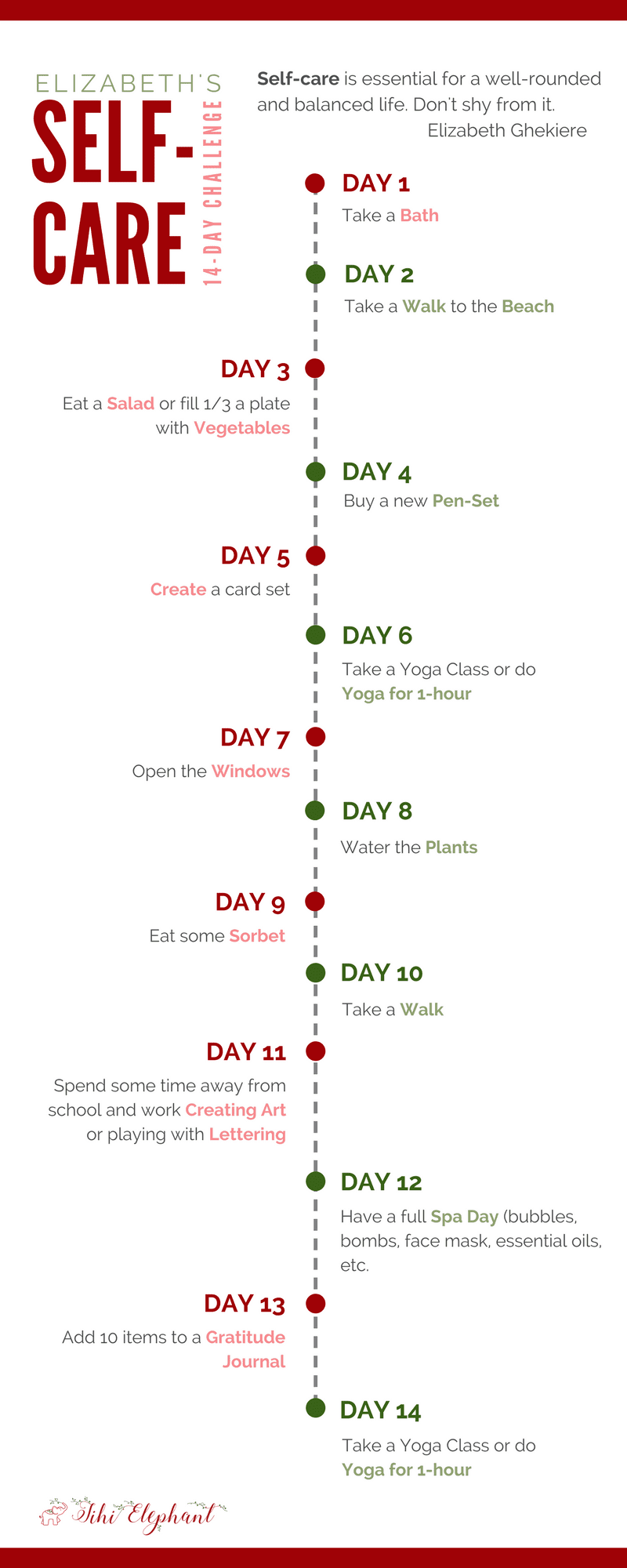 Elizabeth Self-Care 14-Day Challenge