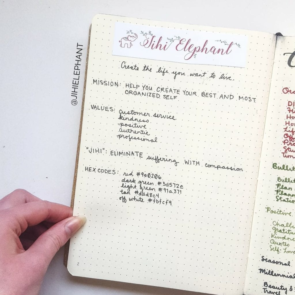 2018 Jihi Elephant Blogging and Business Bullet Journal/Planner   Plan with Me