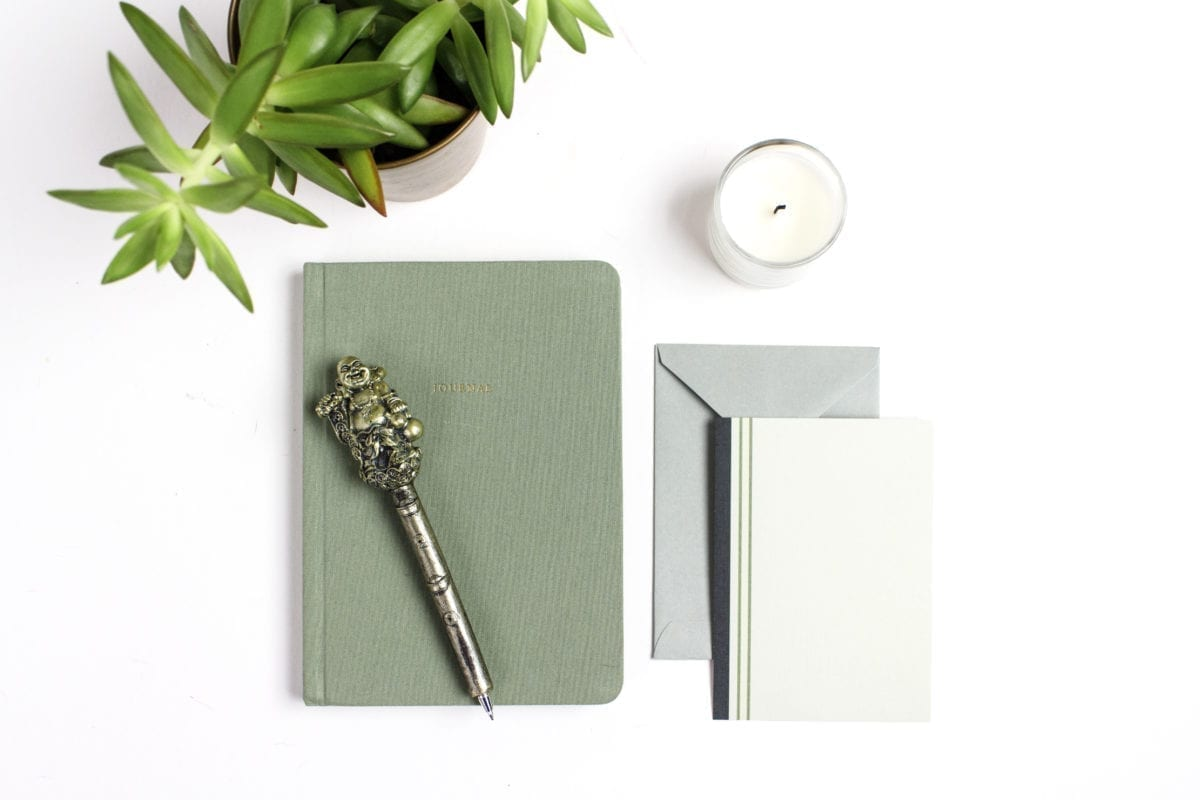 green-notebook-stationery-