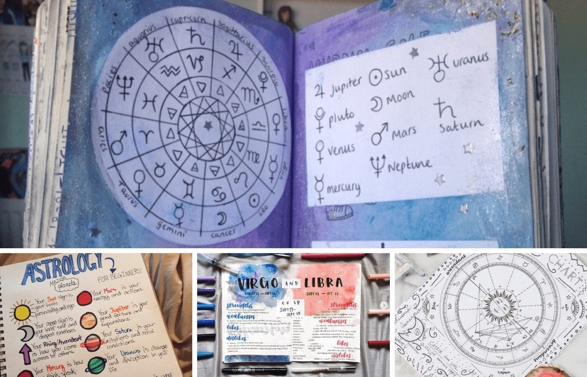 20 Astrology & Zodiac Layouts To Inspire Your Bullet Journal