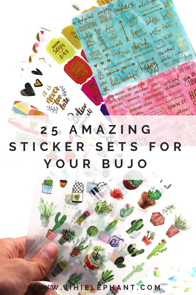25 Amazing Stickers from Amazon and Etsy for Your Bullet Journal