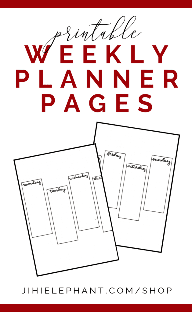 Printable Simple Weekly Bullet Journal Layout   Printable   Download   A5 size