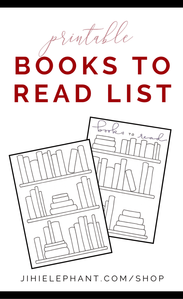 Printable Books to Read Collection Layout | Bookshelf Style | Print Font | A5 Size
