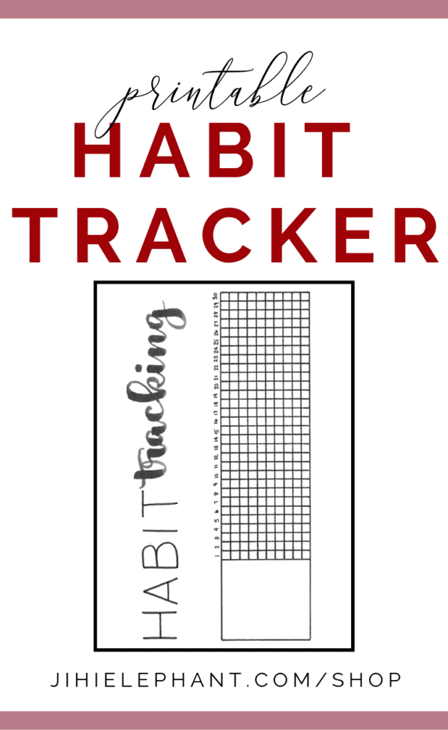 Printable Habit Tracking Bullet Journal Inspired Monthly Grid Layout | A5 Size | Download