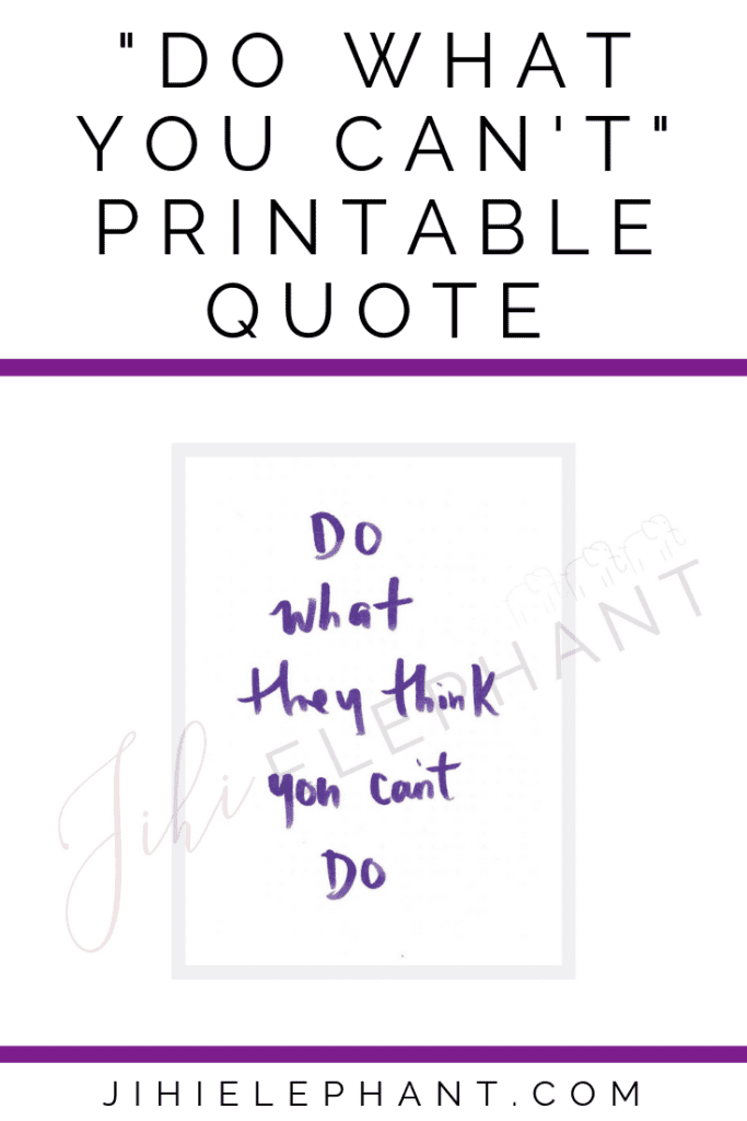 do what they think you can't quote