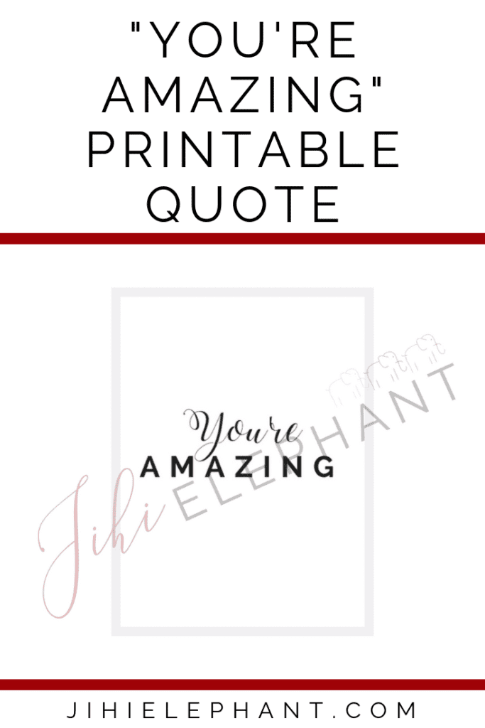 You're amazing quote