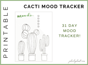 Green Cacti Mood Tracker Bullet Journal Printable