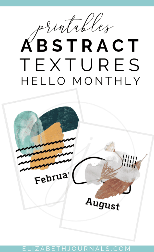 These abstract textures hello monthly printables are colorful & crazy featuring shapes, patterns, and textures. Purchase to instantly download the PNGs!