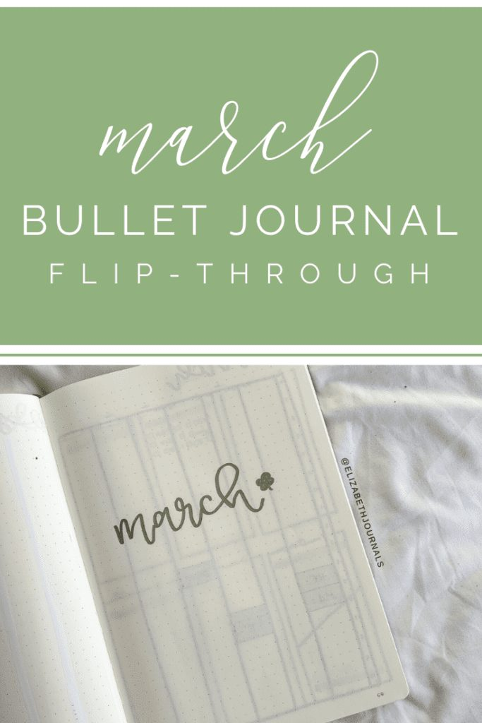 This post will be a brief overview of my bullet journal layout for March 2020 where I decided to do a switch up with a metallic green theme.